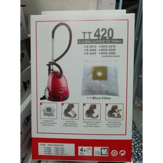 Arçelik Beko S 420 S 4250 BKS 2240 TT420 Toz Torbası Kutulu